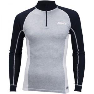 Swix pánské triko se stojáčkem RaceX šedá s modrou