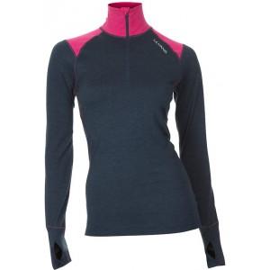 Dámské triko Ulvang Training se stojáčkem černá s růžovou