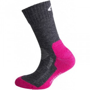 Dětské ponožky Ulvang Jr Spesial šedá s růžovou