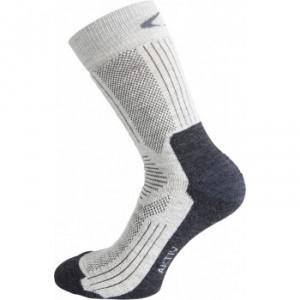 Ponožky Ulvang Aktiv bílá se šedou