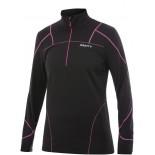 Dámská mikina Craft PR.Thermal Stretch Pullover černá s růžovou