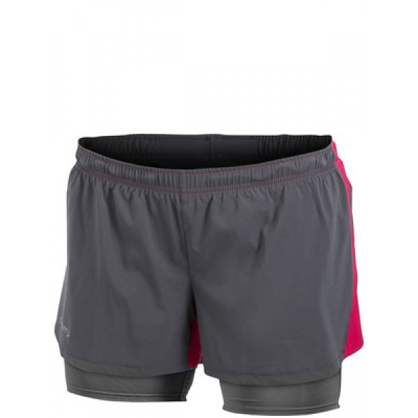Dámské šortky Craft Fast 2 v 1 šedá 85a0ef3b92