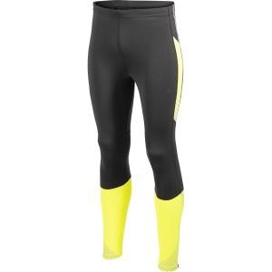 Pánské kalhoty Craft PR Brilliant Thermal Tights černá se žlutou reflexní