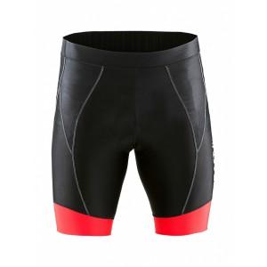Pánské cyklokalhoty Craft AB Short černá s červenou