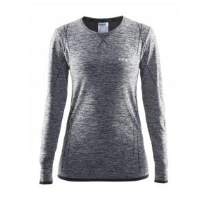 Dámské triko Craft Active Comfort dl.rukáv šedá melír