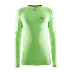 Pánské triko Craft Active Comfort dl.rukáv zelená melír