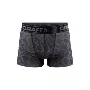 """Pánské boxerky Craft Greatness 3"""" černá s potiskem"""