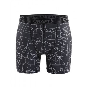 """Pánské boxerky Craft Greatness 6"""" černá s bílou"""