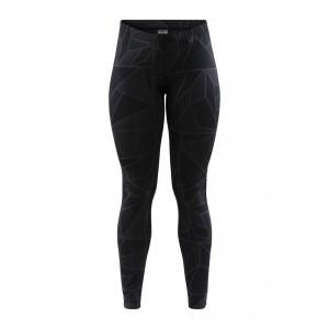 Dámské kalhoty Craft Eaze Tights černá vzor