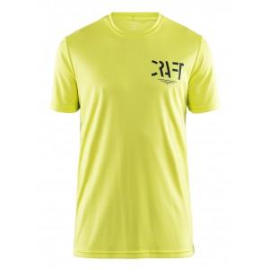 Pánské triko Craft Eaze Graphic žlutá