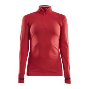 Dámské triko Craft Fuseknit Comfort Zip červená