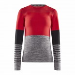 Dámské triko Craft Fuseknit Comfort Blocked červená se šedou