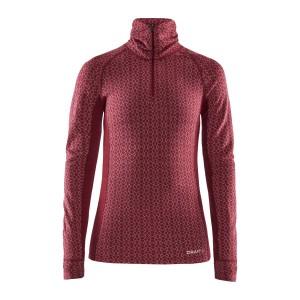 Dámské triko Craft Merino 240 se zipem červená
