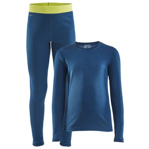 Dětský set Craft Core Warm Baselayer Junior modrá