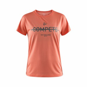 Dámské triko Craft Eaze Logo Mesh tmavě oranžová