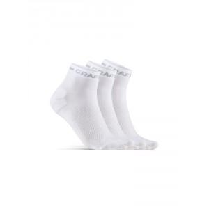 Ponožky Craft Core Dry Mid 3-pack bílá