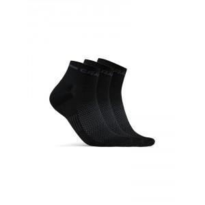 Ponožky Craft Core Dry Mid 3-pack černá