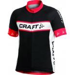 Pánský cyklodres Craft Active Bike Logo Jersey černá s červenou