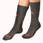 Moira ponožky Thermoset šedá s oranžovou