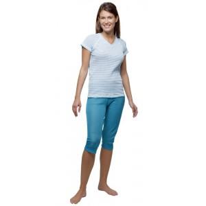 Moira dámské pyžamo Supermicro modrý tyrkysový pruh