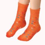 Dětské ponožky Moira TG 900 oranžová vzor kytička