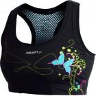 Dámská podprsenka Craft Sports Bra černá vzor