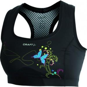 Dámská podprsenka Craft Sports Super černá vzor