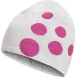 Čepice Craft Big Logo bílá s růžovou