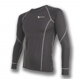 Pánské triko Sensor Coolmax Fresh dl.rukáv černá