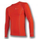 Pánské triko Sensor Coolmax Fresh dl.rukáv červená