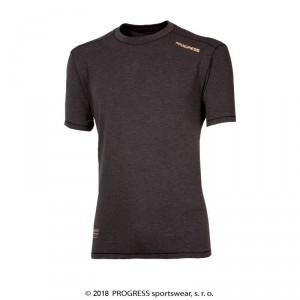 Pánské triko Progress Coffee kr.rukáv šedá antracit