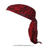 Progress tvarovaný šátek s potiskem vzor Červená cihla