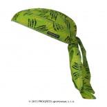 Tvarovaný šátek Progress s potiskem vzor Zelené drápy