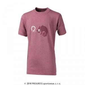 Dětské triko Progress Bambino Chameleon růžová melír