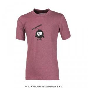 Dětské triko Progress Bambino Ptáček růžová melír