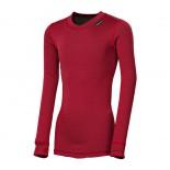 Dětské triko Progress Micro Sense dl.rukáv červená bordó