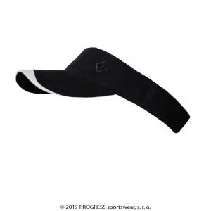 Sportovní čelenka Progress s kšiltem černá