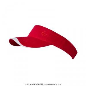 Sportovní čelenka Progress s kšiltem červená