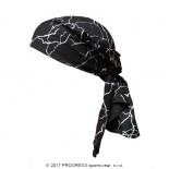 Trojcípý šátek Progress s potiskem vzor Černé blesky