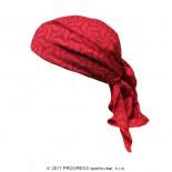 Trojcípý šátek Progress s potiskem šedá vzor Červená Julie