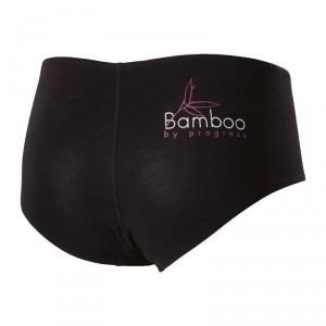 Dámské kalhotky Progress Bamboo černá fialové prošití