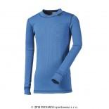 Dětské triko Progress Micro Sense dl.rukáv středně modrá