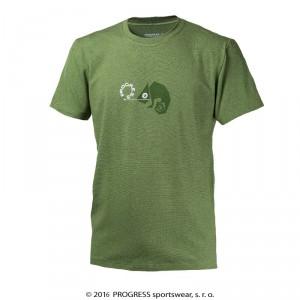 Pánské triko Progress Barbar Chameleon zelená melír