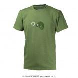 Pánské triko Progress Barbar Chameleon zelená