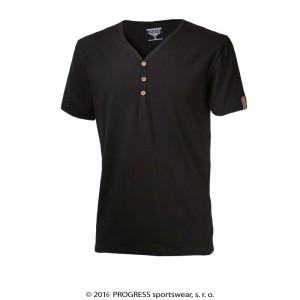 Pánské triko Progress Botton černá