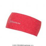 Sportovní funkční čelenka Progress přes hlavu široká červená melír