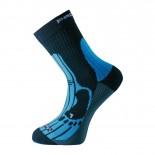Ponožky Progress Merino černá s modrou