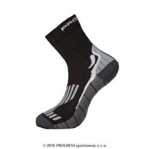 Ponožky Progress Running High Sox černá