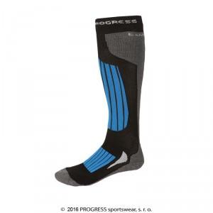 Podkolenky Progress Ski Bamboo černá s modrou