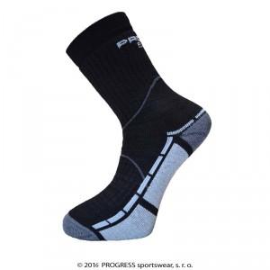 Ponožky Progress Trail Bamboo černá se šedou